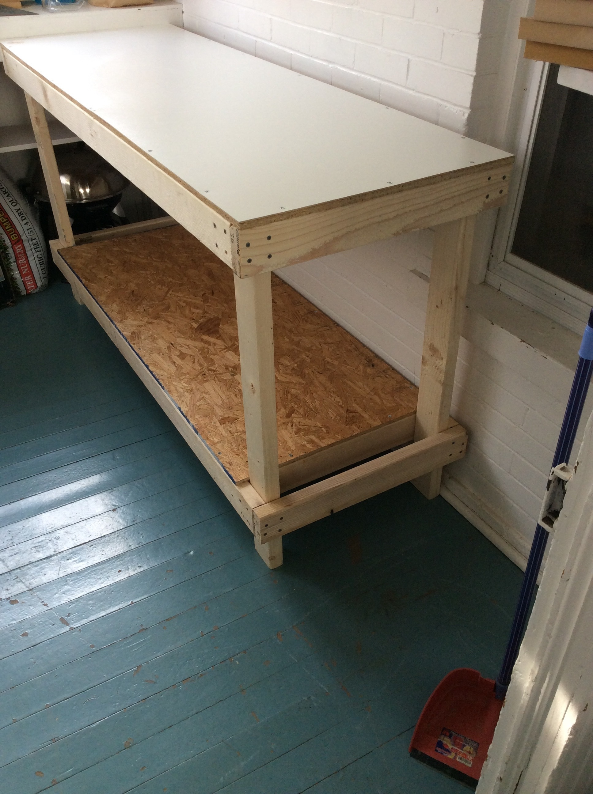 A completed workbench